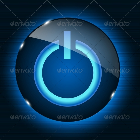 Glass Power Button - Miscellaneous Vectors