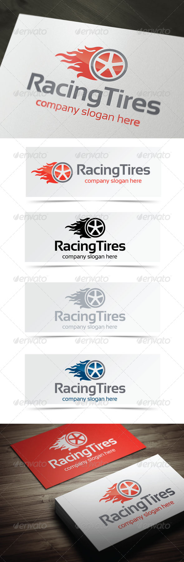 Racing Tires - Objects Logo Templates