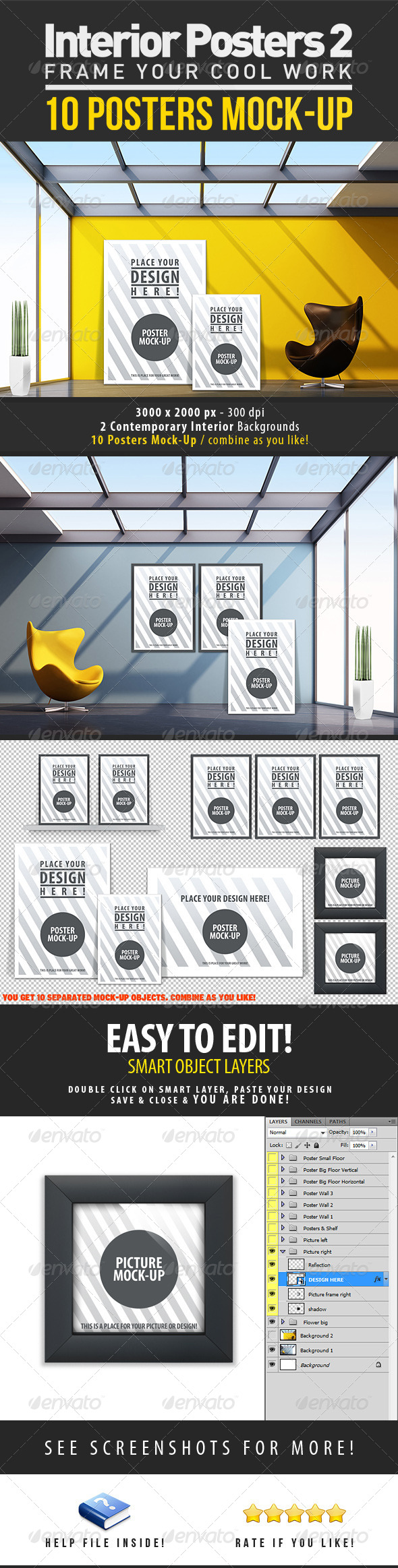 Interior Posters Mock-Up Vol.2 - Miscellaneous Product Mock-Ups
