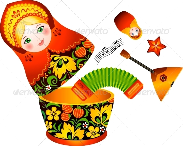 Russian Tradition Matryoshka Doll - Miscellaneous Characters