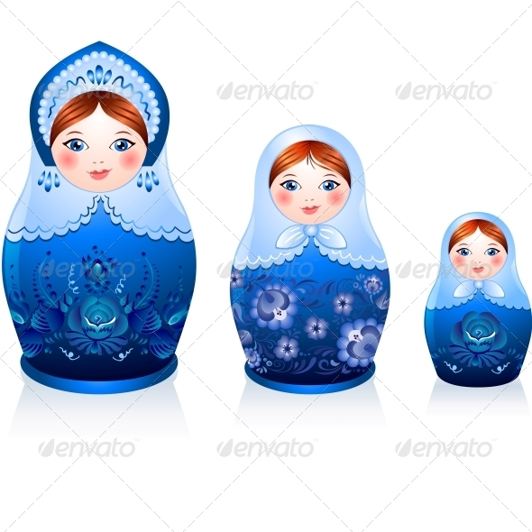 Russian Tradition Matryoshka Dolls - Miscellaneous Characters