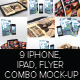 Flyer Mock-up with iPhones and iPads Previews - GraphicRiver Item for Sale