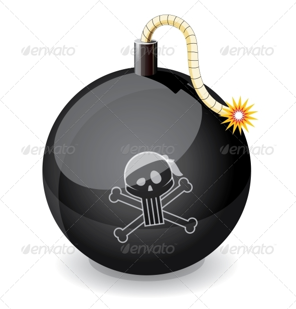 Pirate Black Glossiness Bomb - Man-made Objects Objects