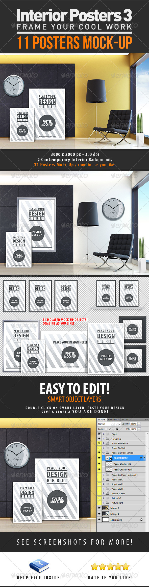 Interior Posters Mock-Up Vol. 3 - Miscellaneous Product Mock-Ups