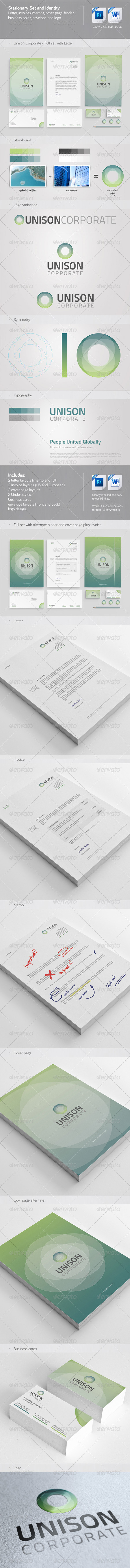 Unison: Corporate Stationery, Invoice and Identity - Stationery Print Templates