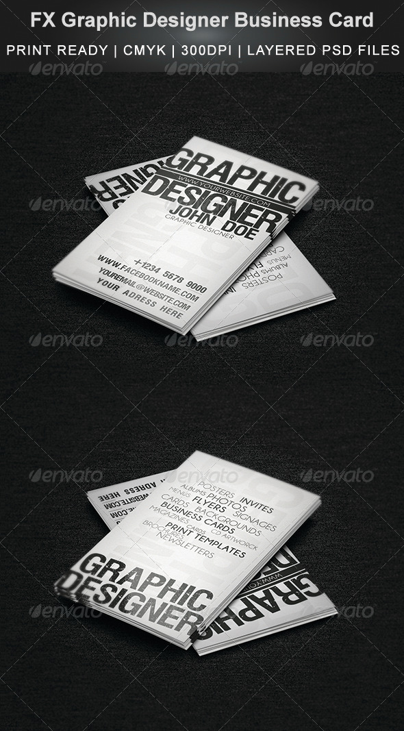 FX Graphic Designer Business Card - Creative Business Cards