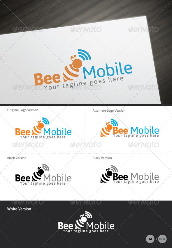 Bee Mobile Logo Template - Logo Templates