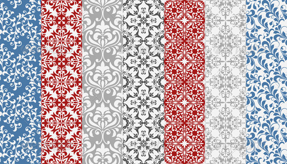 Vector Seamless  Floral Patterns - Patterns Decorative