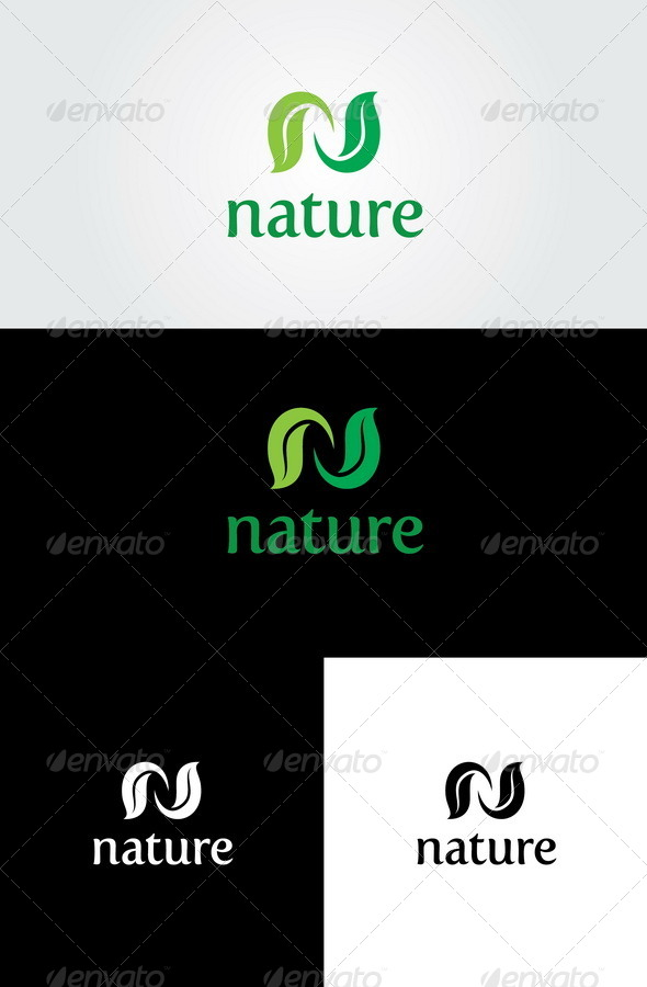 Nature Logo Template - Letters Logo Templates