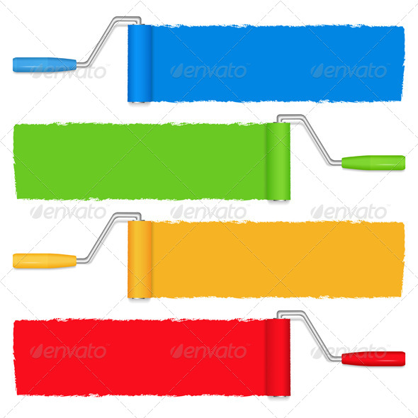 Paint Rollers - Objects Vectors