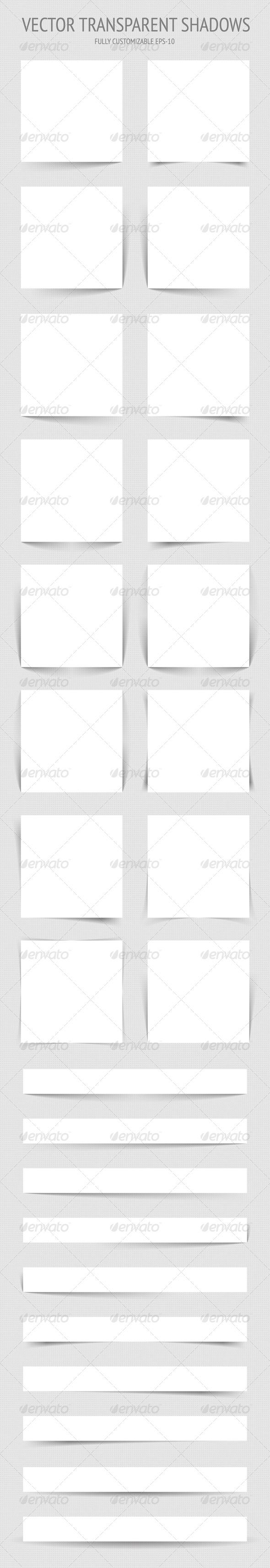 Vector Transparent Shadows - Web Elements Vectors
