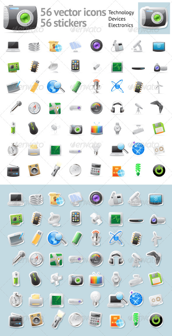 Vector Icons for Technology and Electronics - Icons
