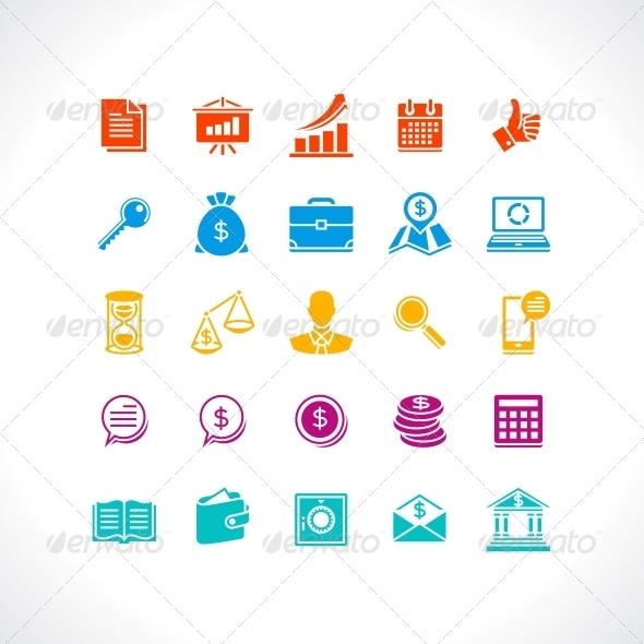 Set of Business and Money Web Icons. - Concepts Business