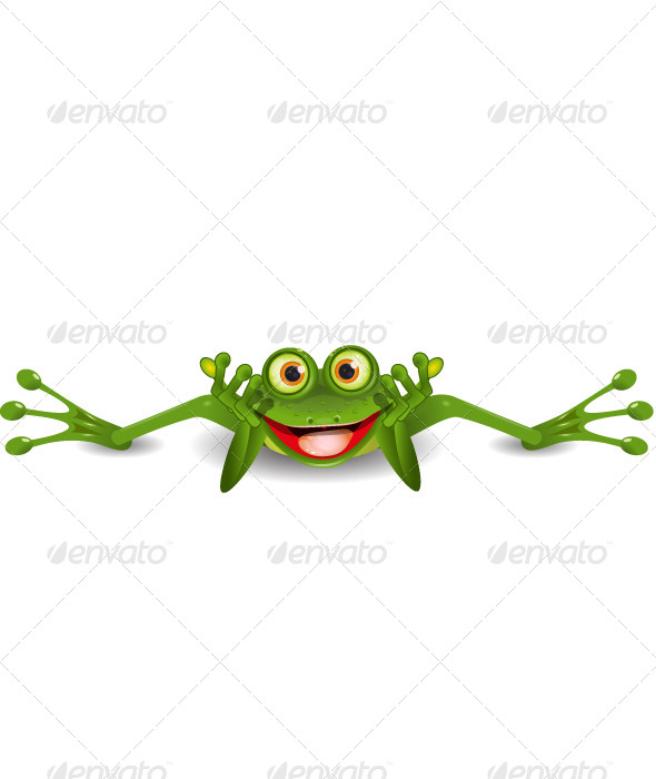 Funny Frog on his Stomach - Animals Characters