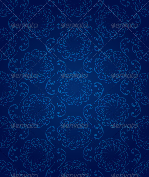 Vintage Floral Seamless Pattern   - Backgrounds Decorative