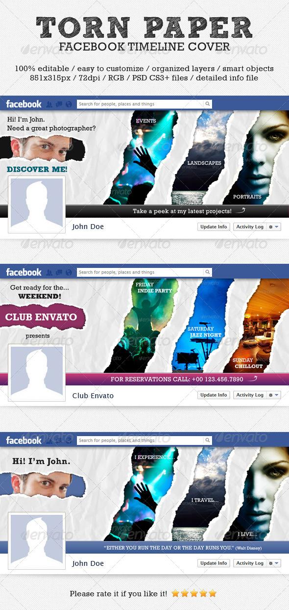 Torn Paper Facebook Timeline Cover - Facebook Timeline Covers Social Media