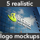 5 Realistic Interior & Exterior Logo Mockups - GraphicRiver Item for Sale
