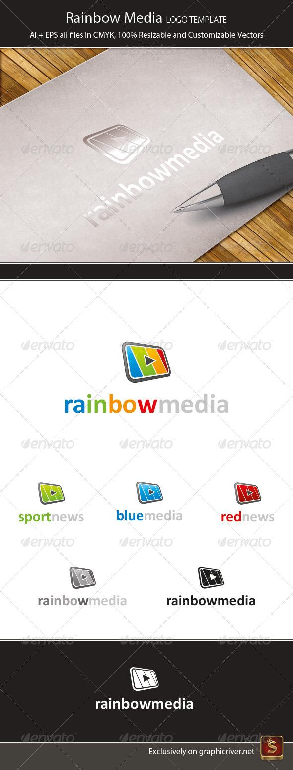 Rainbow Media Logo Template - Vector Abstract