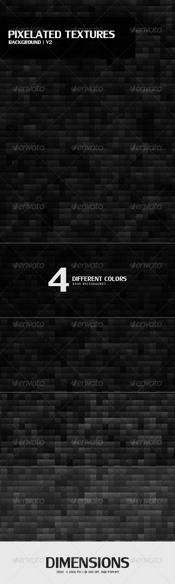 Pixelated Textures Background v2 - Abstract Backgrounds