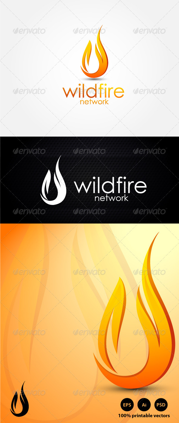 Wildfire Energy Logo - Nature Logo Templates