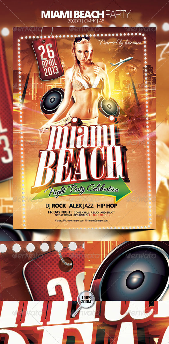 Miami Beach Party - Clubs & Parties Events