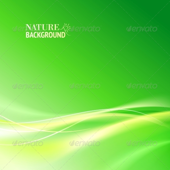 Green Abstract Background - Abstract Conceptual