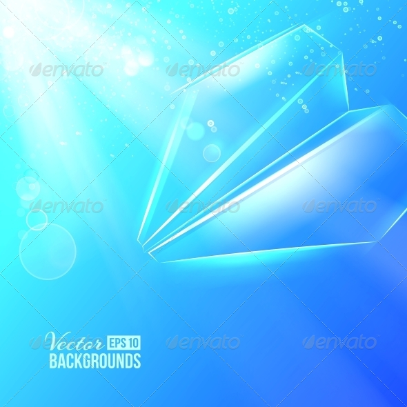 Paper Airplane Background - Abstract Conceptual