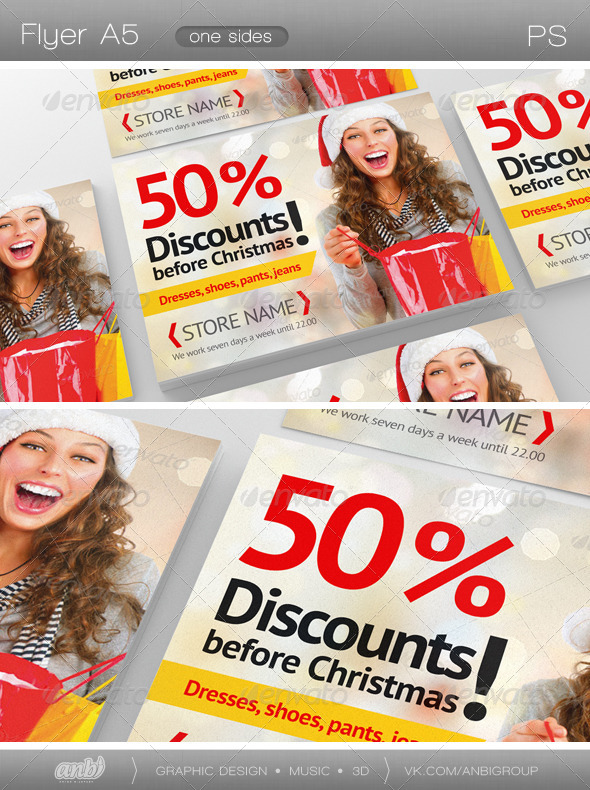 Discounts Before Christmas - Commerce Flyers