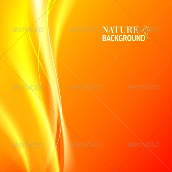 Tender Orange Abstract Background - Abstract Conceptual