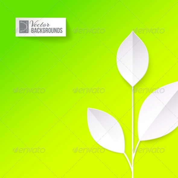 Eco Origami Leaf - Abstract Conceptual