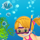 Girl Under the Sea - GraphicRiver Item for Sale
