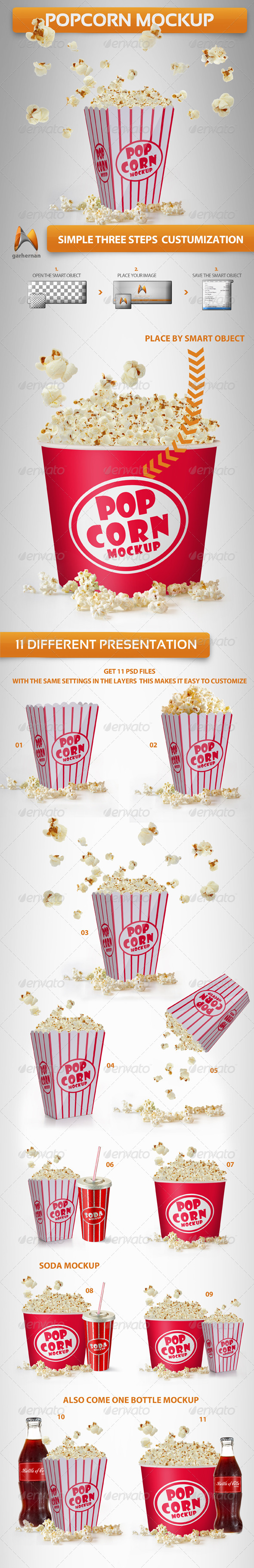 Popcorn Mockup - Food and Drink Packaging