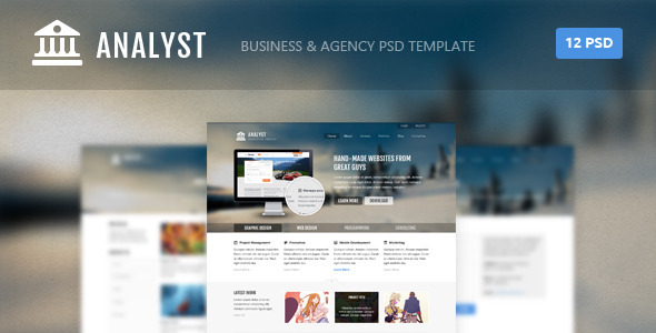 Analyst – Business & Agency PSD Template