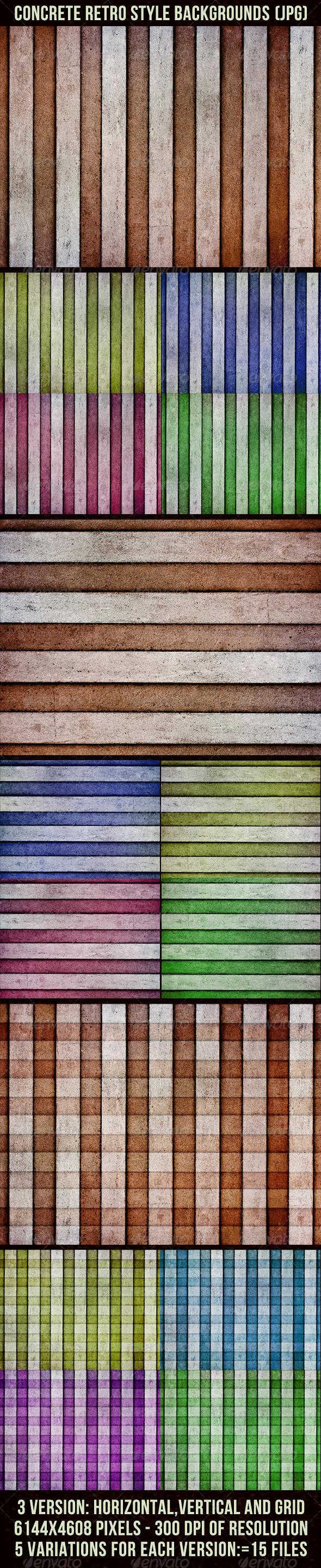 Concrete Retro Backgrounds - Patterns Backgrounds