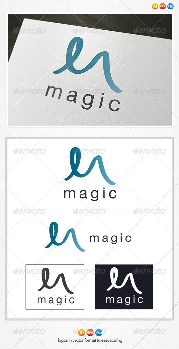 Magic M Letter Logo - Letters Logo Templates