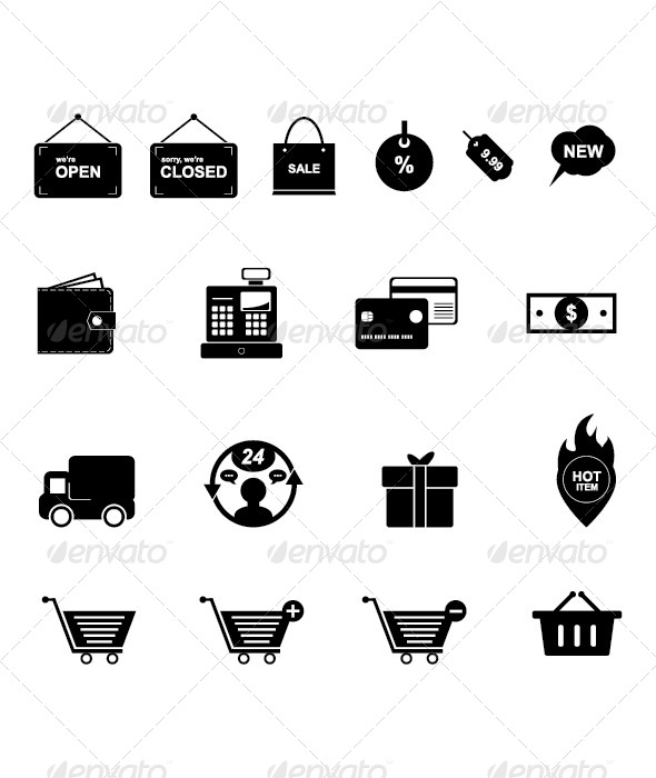 Shopping Icon Set - Commercial / Shopping Conceptual