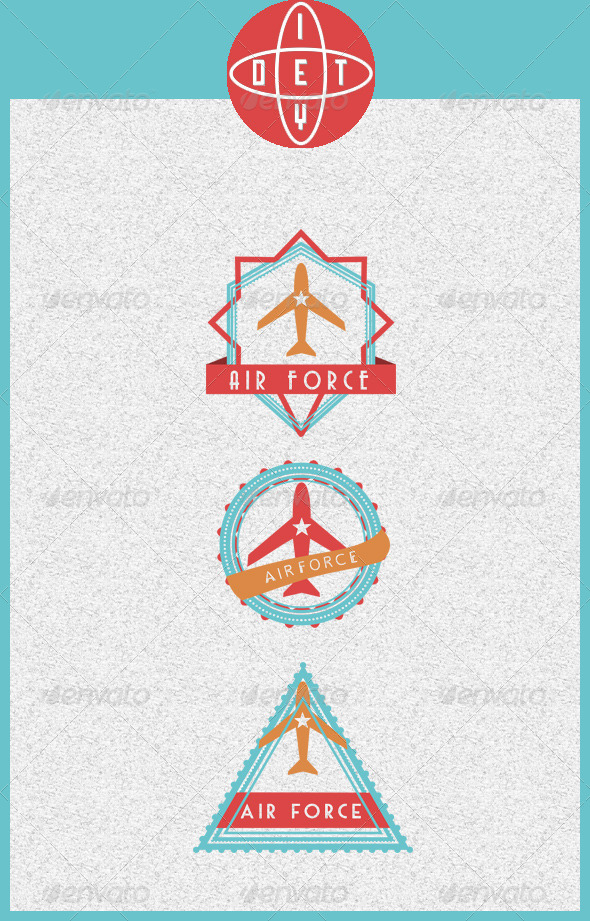 AirForce Badges - Badges & Stickers Web Elements