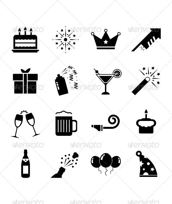Celebration Icon Set - Seasons/Holidays Conceptual