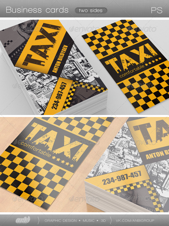 Taxi Comfortable - Industry Specific Business Cards