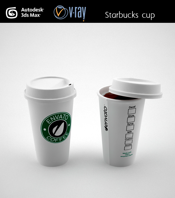 Starbucks coffee cup by fabiomonzani 3docean Coffee cups for sale