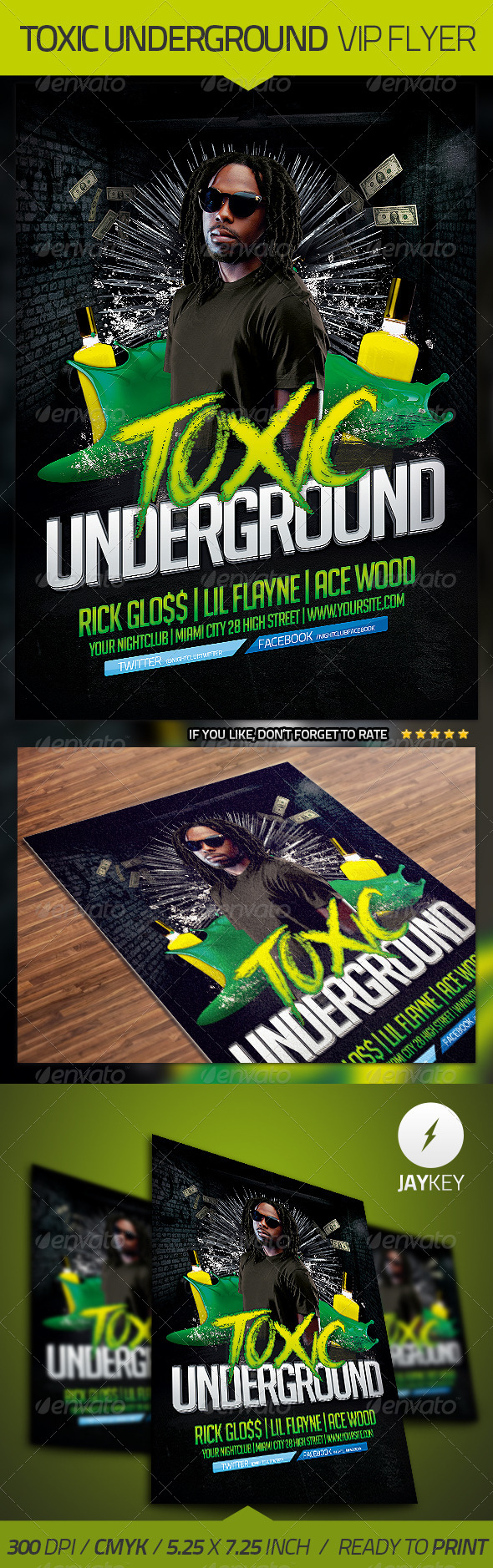 Underground Flyer Template - Clubs & Parties Events
