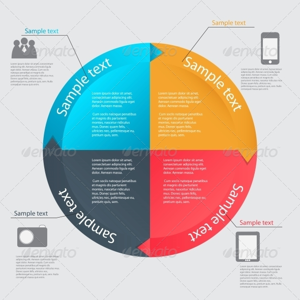 Infographic Template Vector Illustration - Concepts Business