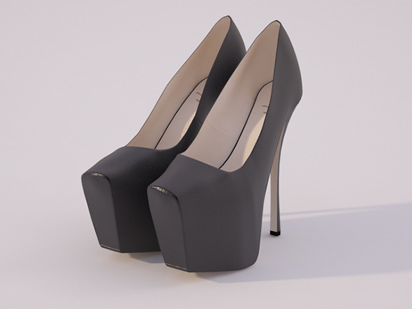 High Heel Shoes - 3DOcean Item for Sale