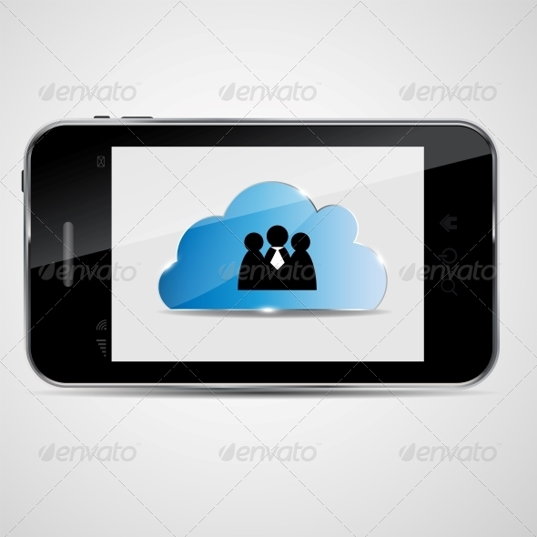 Cloud Computing Vector Illustration - Concepts Business