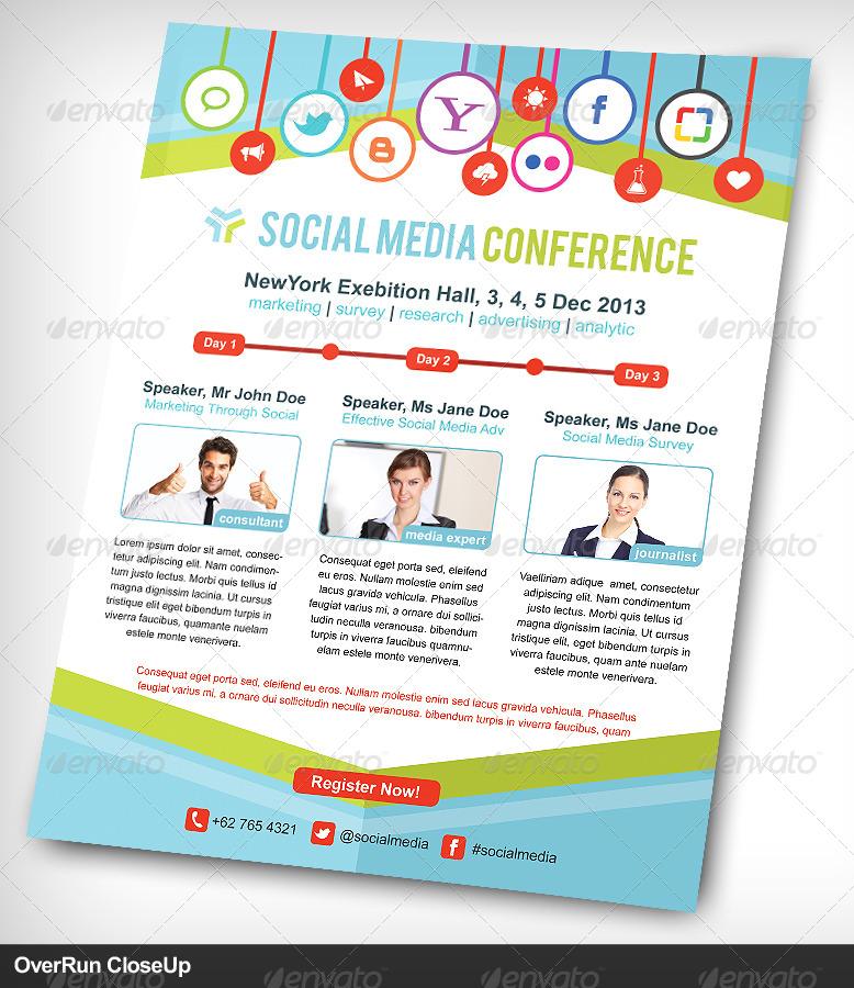 Social Media Conference Flyer Or Advertising by vinirama ...
