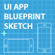 iPhone 5 UI Blueprint Sketch - GraphicRiver Item for Sale