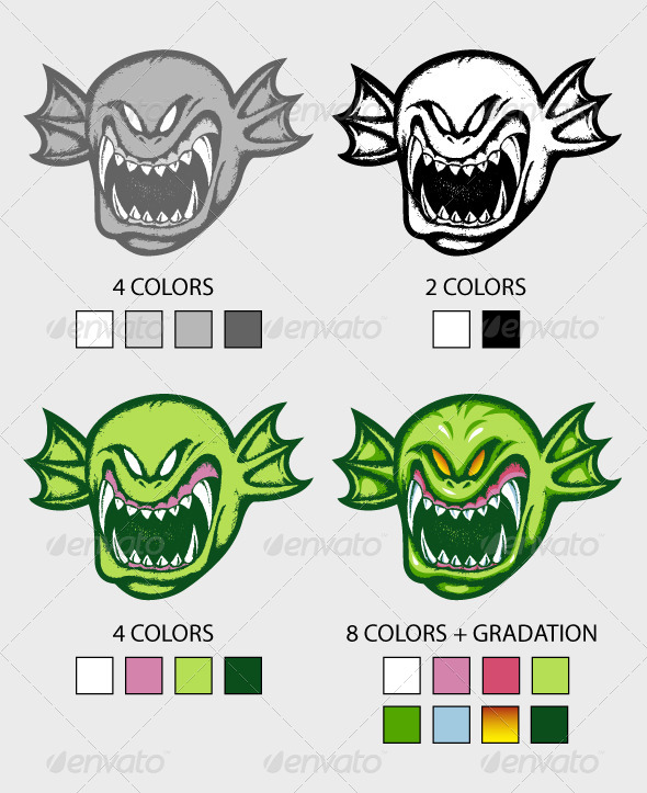 Green Creature Hand Drawn - Monsters Characters