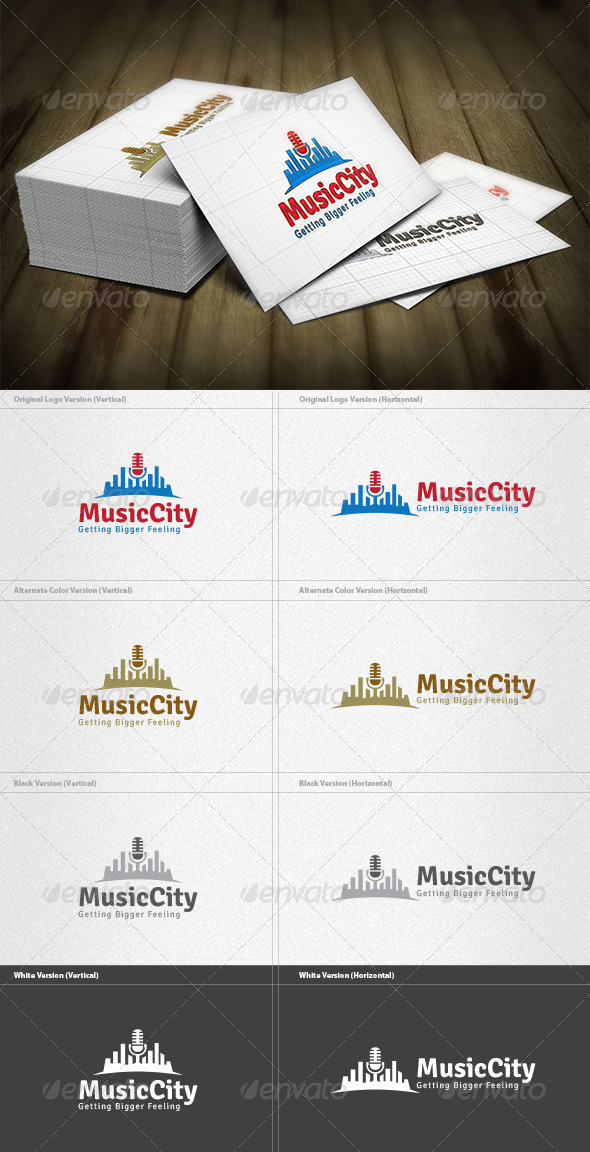 Music City Logo - Buildings Logo Templates