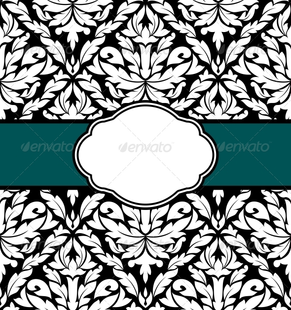 Greeting Card in Retro Style - Backgrounds Decorative