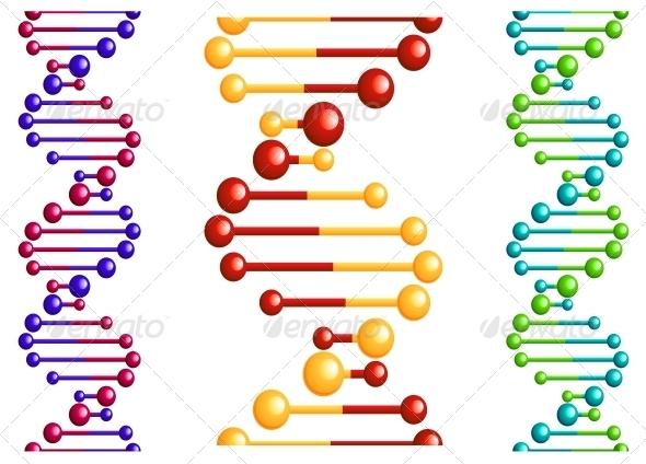 DNA Molecule with Elements - Health/Medicine Conceptual